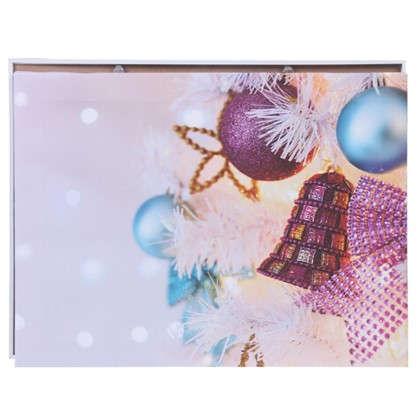 Картина на холсте 30x40 см Игрушки на елке