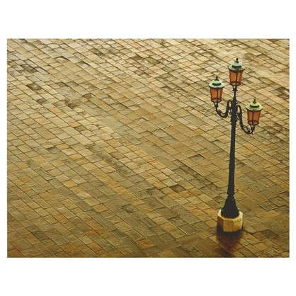 Картина на холсте 40х50 см Фонарь