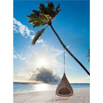 Картина на холсте 40х50 см Качели на пляже