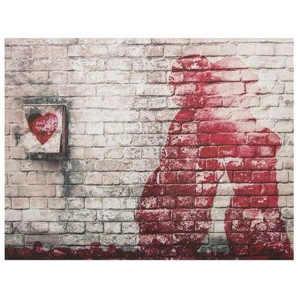 Картина на холсте 40х50 см Кирпичная стена