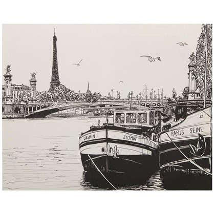 Картина на холсте 40х50 см Лодки