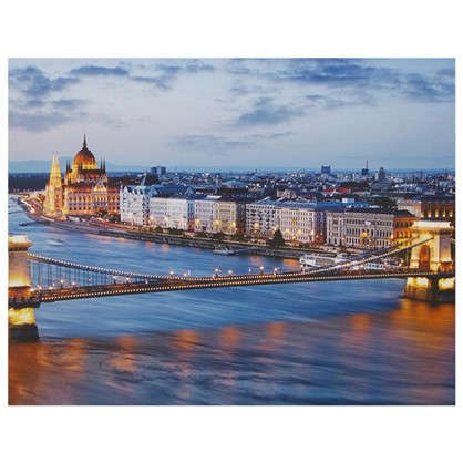 Картина на холсте 40х50 см Вечерний Будапешт