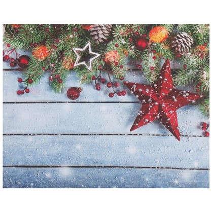 Картина на холсте 40x50 см Рождественский венок