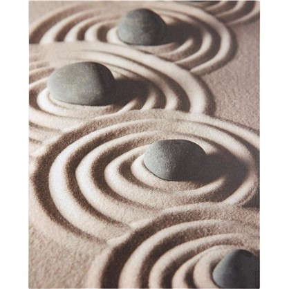 Картина на холсте Камни на песке 40х50 см