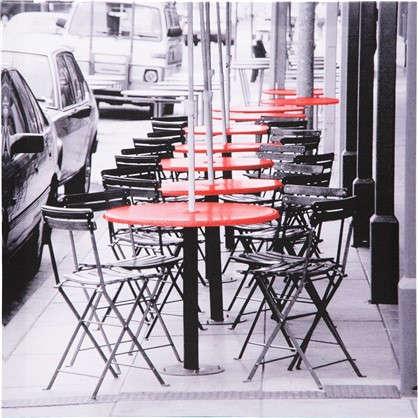 Картина на холсте Красные столы 30х30 см