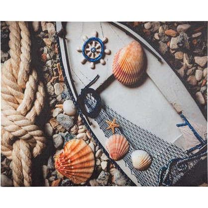 Картина на холсте Лодка ракушки 40х50 см