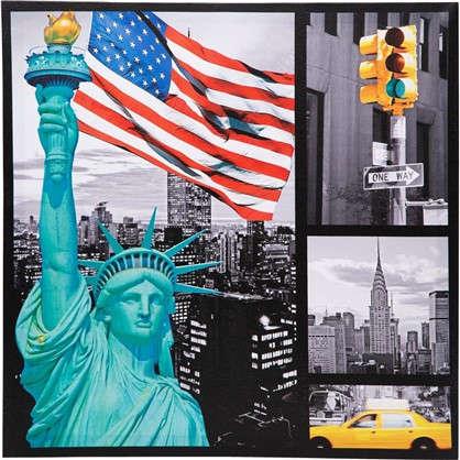 Картина на холсте Статуя свободы 40х40 см