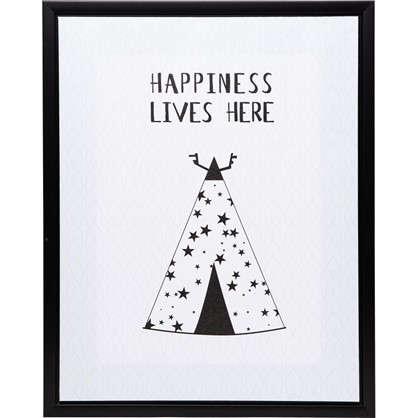 Картина на холсте в раме Happiness 40х50 см