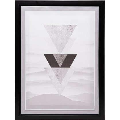 Картина на холсте в раме Треугольники 30х40 см