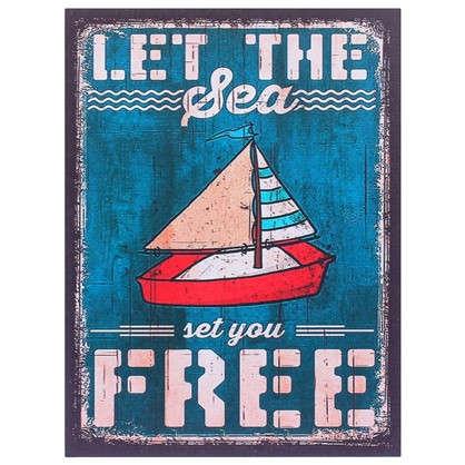 Картина на МДФ Let the sea 30х40 см