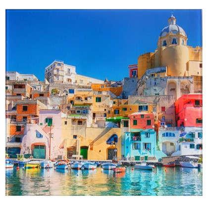 Картина на стекле 30х30 см Италия Неаполь