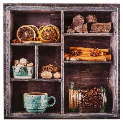 Картина на стекле 30х30 см Шоколад и пряности