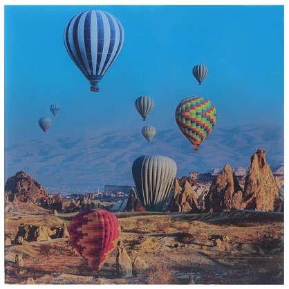 Картина на стекле 30х30 см Воздушные шары-1