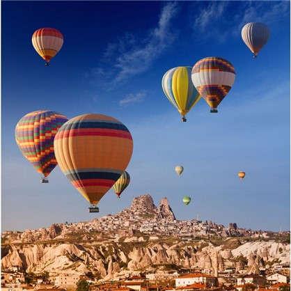 Картина на стекле 30х30 см Воздушные шары-3