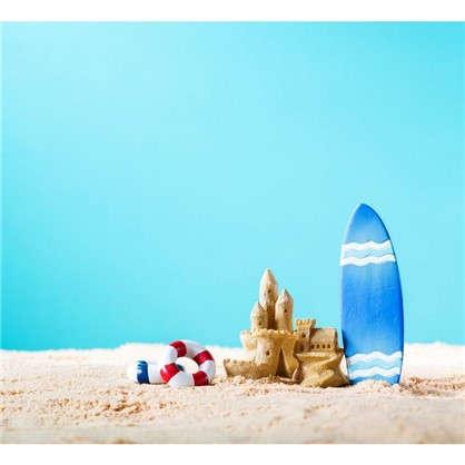 Картина на стекле 30х30 см Замок из песка