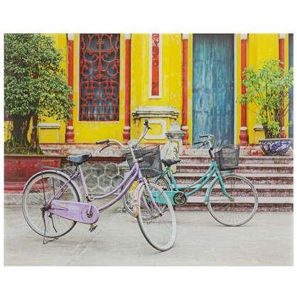 Картина на стекле 40х50 см Два велосипеда