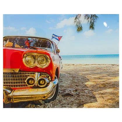 Картина на стекле 40х50 см Машина на пляже