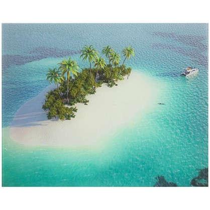 Картина на стекле 40х50 см Остров в океане