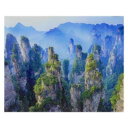 Картина на стекле 40х50 см Парящие скалы