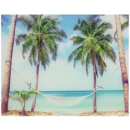 Картина на стекле 40х50 см Тропический рай