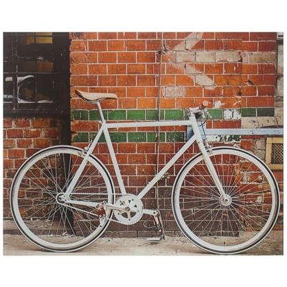 Картина на стекле 40х50 см Велосипед у стены