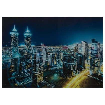 Картина на стекле 50x70 см Ночной Дубай