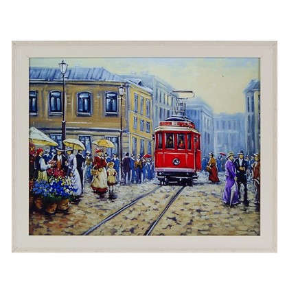 Картина в раме 40x50 см Трамвай