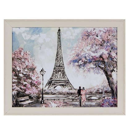 Картина в раме 40x50 см Весна в Париже