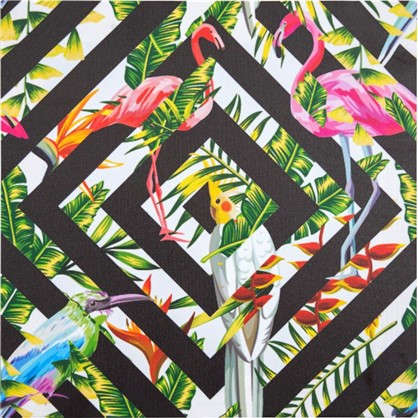 Картины на холсте Фламинго 40х40 см