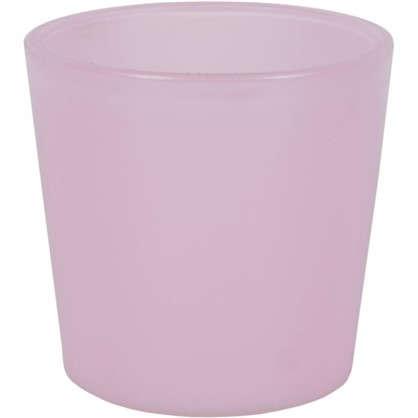 Кашпо 0.6 л 11.5 см стекло цвет розовый