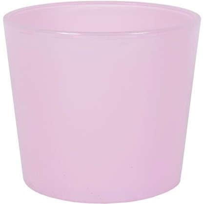 Кашпо 1.1 л 14.5 см стекло цвет розовый