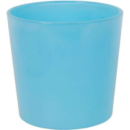 Кашпо 2 л 17 см стекло цвет голубой