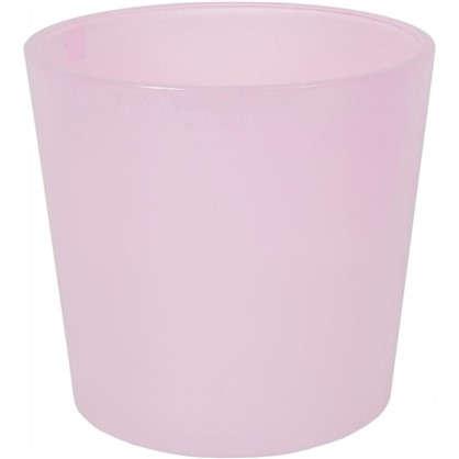 Кашпо 2 л 17 см стекло цвет розовый