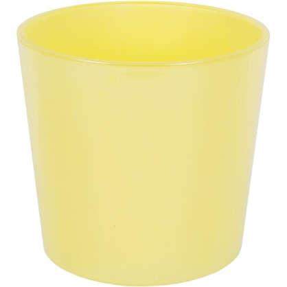 Кашпо 2 л 17 см стекло цвет жёлтый