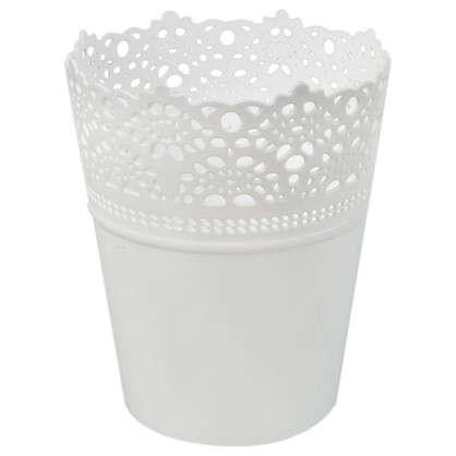 Кашпо Ажур зелёный 115 мм пластик