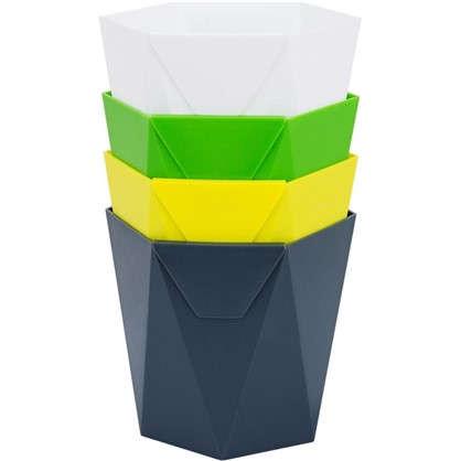 Кашпо декоративное Пазл 1 л 135 мм цвет микс