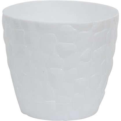 Кашпо Камни 150 мм 1.4 л цвет белый