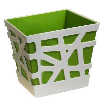 Кашпо Мозаика 3 л 170х170х190 мм цвет зелёный