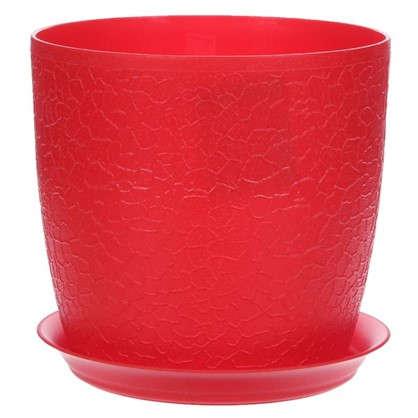 Кашпо с поддоном Верона d160 мм 2.3 л цвет красный