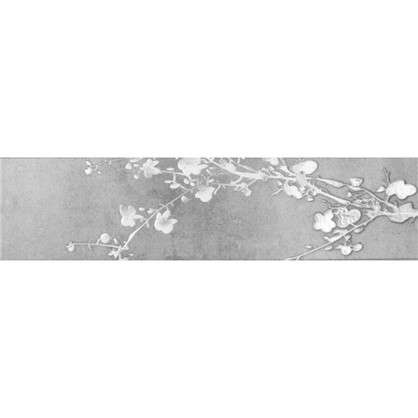 Керамогранит Sakura 60x15 см цвет тёмно-серый 4 шт.