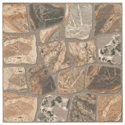 Керамогранит Vilio Brown 32.6х32.6 см 1.17 м2 цвет коричневый