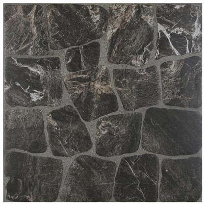 Керамогранит Vilio Graphite 32.6х32.6 см 1.17 м2 цвет чёрный