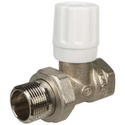 Клапан для радиатора регулировочный прямой Euros 3/4 дюйма