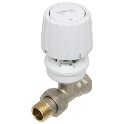 Клапан для радиатора запорный прямой для однотрубной системы отопления 1/2 дюйма