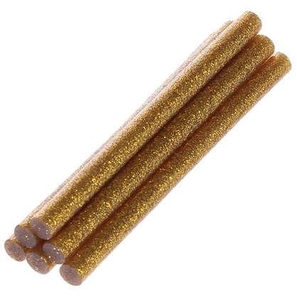 Клеевые стержни 8x100 мм золотые 6  шт.