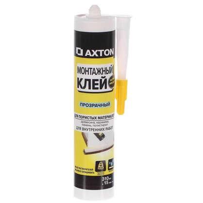Клей монтажный Axton 310 мл акрил цвет прозрачный