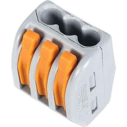 Клемма соединительная 222-413 3 разъёма под провода