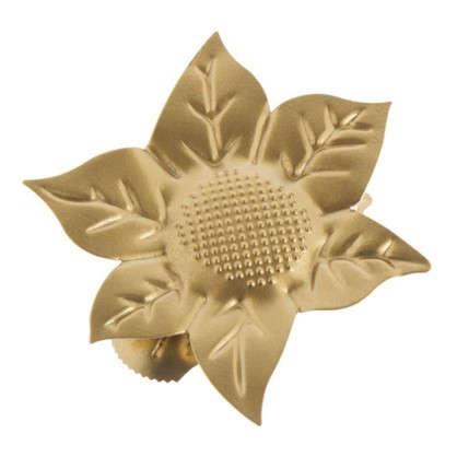 Клипса Цветок металл цвет матовое золото