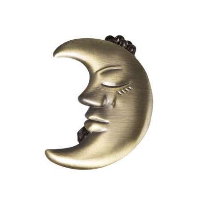 Клипса Месяц цвет золото антик