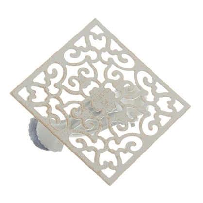 Клипса Орнамент металл цвет белый